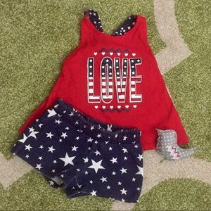 Other - [Lowest Price] Patriotic Shorts and Tank Top 2T